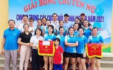 LĐLĐ Nghĩa Đàn tổ chức giải bóng chuyền nữ khối doanh nghiệp