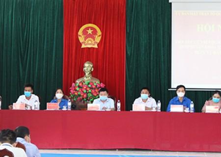 Ứng cử viên đại biểu HĐND huyện tiếp xúc cử tri xã Nghĩa Long