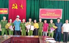 Đảng ủy xã Nghĩa Thành công bố quyết định thành lập Chi bộ Công an xã