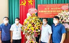 Lãnh đạo huyện và các cơ quan, đơn vị chúc mừng trung tâm Văn hóa, Thể thao và Truyền thông huyện nhân dịp kỷ niệm 96 năm ngày Báo chí Cách mạng Việt Nam