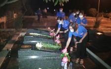 Huyện đoàn Nghĩa Đàn tổ chức lễ thắp nến tri ân các anh hùng liệt sỹ