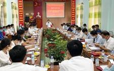 UBND huyện Nghĩa Đàn làm việc với xã Nghĩa Lạc về thực hiện chương trình MTQG  xây dựng NTM năm 2021