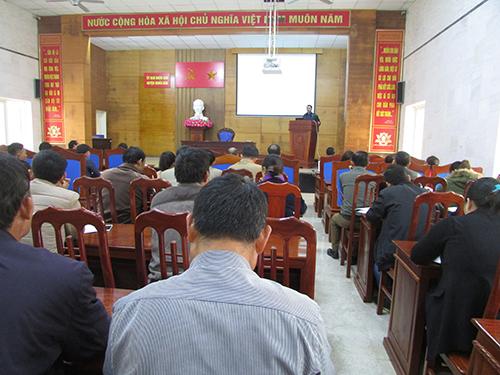 Hội thảo bàn giải pháp quản lý chất lượng nông sản huyện Nghĩa Đàn