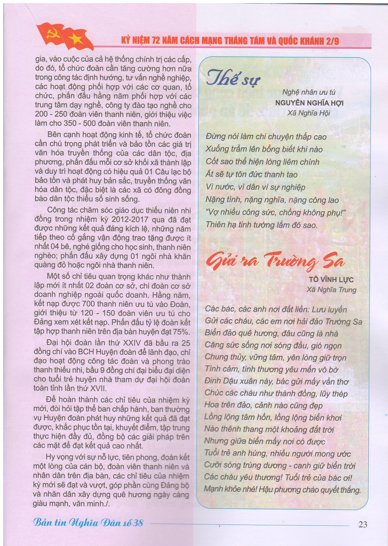Bản tin Nghĩa Đàn số 38